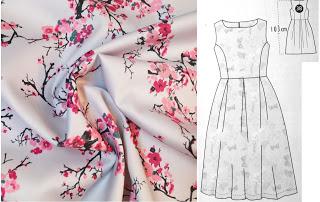 So ein schöner Stoff! – Hochzeitsgastkleid