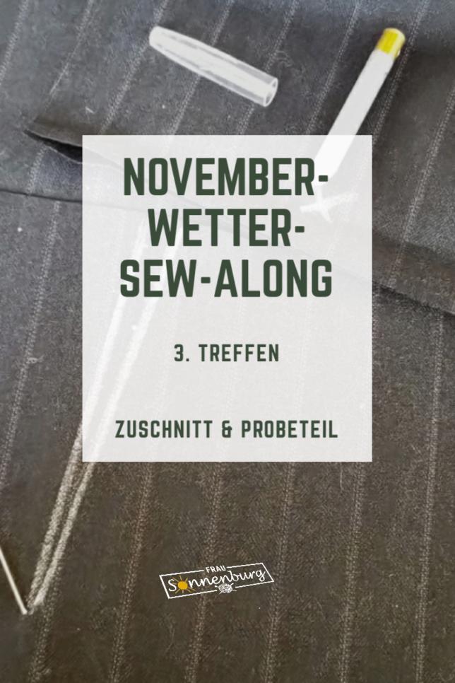 Novemberwetter Sew Along - Amber - Marlenehose - Fashionstyle - Damenhose mit geradem Bein - 3. Treffen