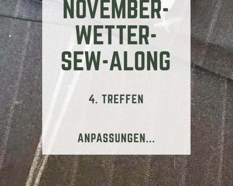 Novemberwetter-Sew-Along: Anpassungen bei Amber