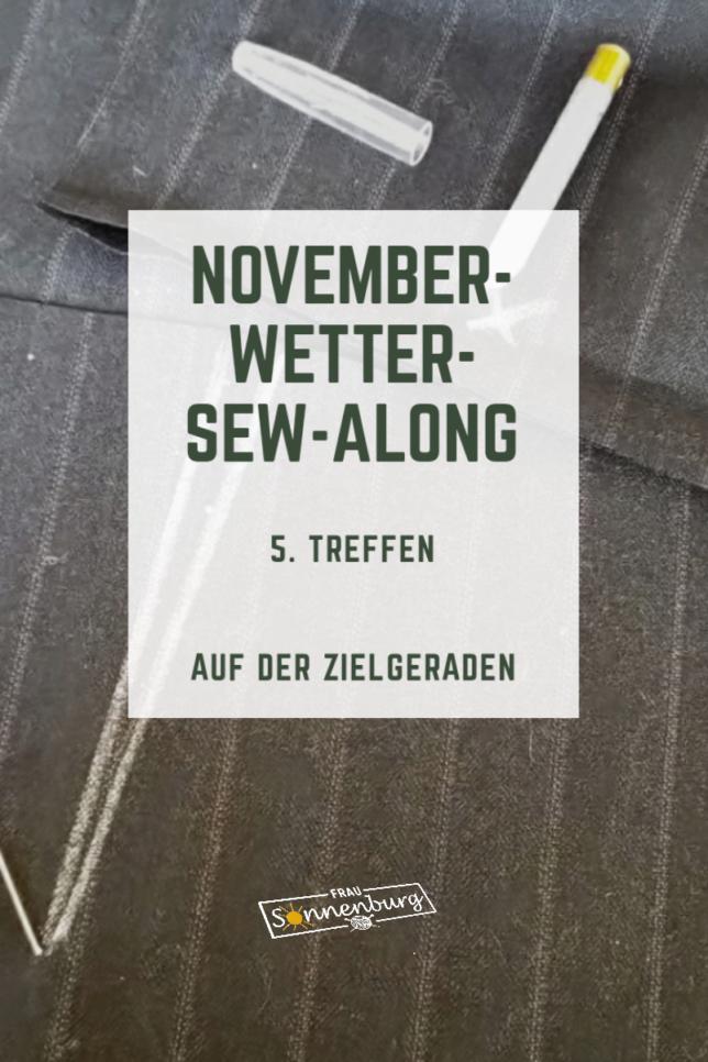 Novemberwetter Sew Along - Amber - Marlenehose - Fashionstyle - Damenhose mit geradem Bein - 5. Treffen