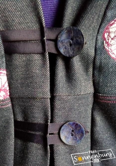 Autumn Falls - Ottobre 5_15 - Lillestoff Jersey - Jerseymantel - Colorblocking - Knopflösung