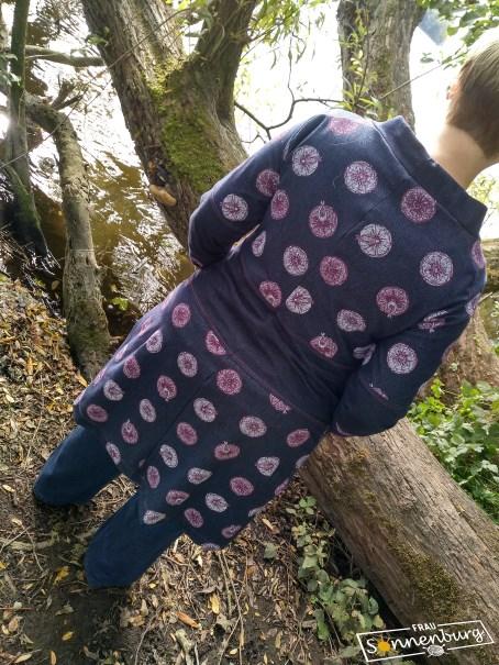 Autumn Falls - Ottobre 5_15 - Lillestoff Jersey - Jerseymantel - Colorblocking - Rückseite