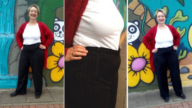 Novemberwetter-Sew-Along - Hose Amber - Fashionstyle - Marlenehose - Nadelstreifen