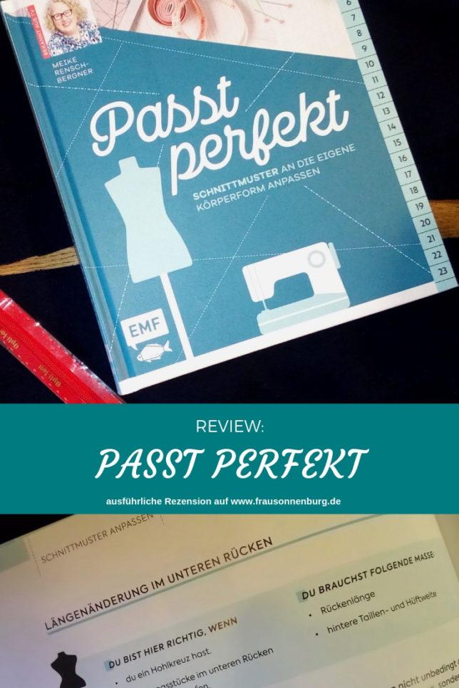 Passt perfekt - Schnittmuster anpassen - Crafteln -Buchrezension -Review