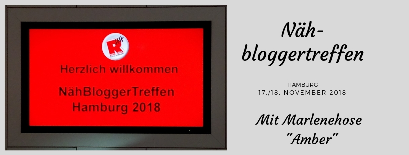 Nähbloggertreffen 2018 in Hamburg: Hose Amber in Action