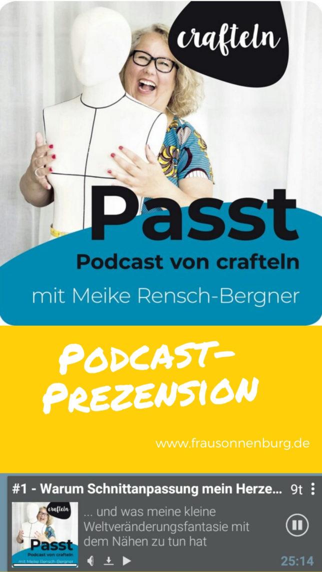 Podcastrezension - PASST! - Crafteln - Schnittmuster anpassen