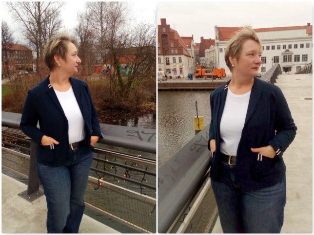 Schnieke Wiebke - Echt Knorke - Sweatblazer - Sweatblazer nähen - Damenblazer_offenkantig verarbeitet