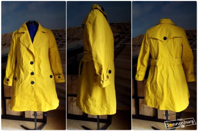 Burda Trenchcoat 406-16 - Dry Oilskin - Merchant & Mills - Schneiderpuppe