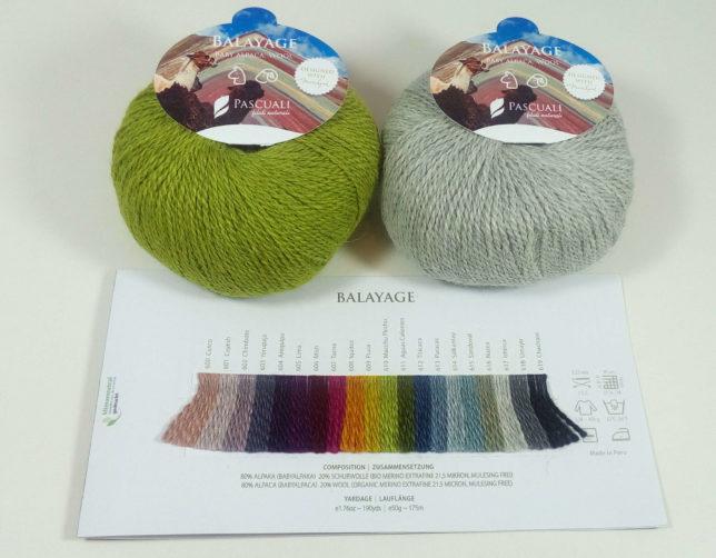 Alpaka Merino - Balayage - Farbpalette