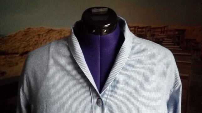 Crafteln - Kimonobluse - Kragen - außen