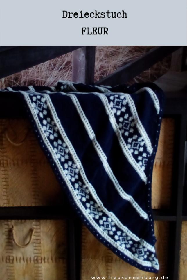 Dreieckstuch Fleur - Tücher in Runden stricken