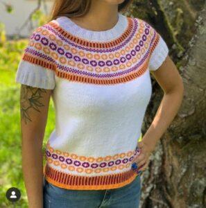 Andrea Brauneis - Strickzeit - Retro Shirt