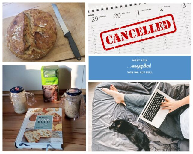 Jahresrückblick 2020 - März - Home Office - Brot - Brot backen