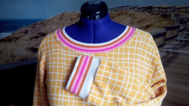 Ottobre - Solid and Stripe - Tunika - Hamburger Liebe - Grid - Buendchen - Cuff Me
