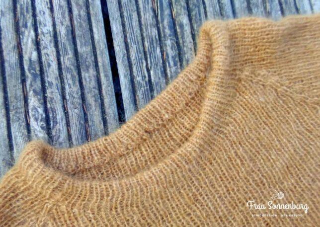 Sandnes - Tynn Silk Mohair - Rippenpullover - Kragen