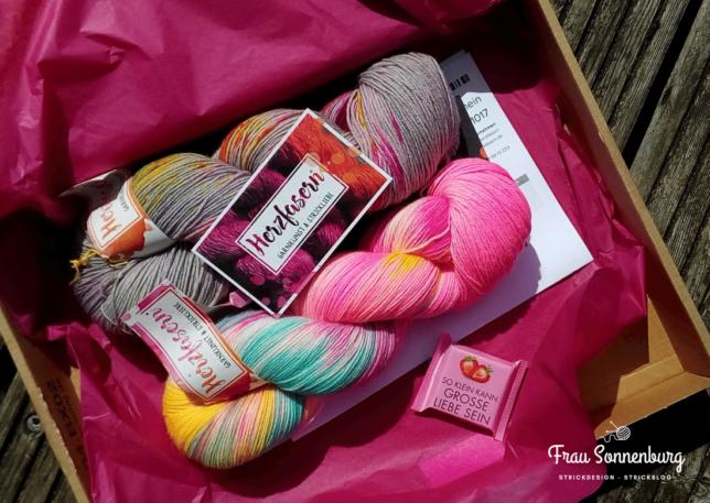 Merino Sockenwolle - Herzfaser - Urlaubsfeeling - Sockenwolle - grau - pink - bunt