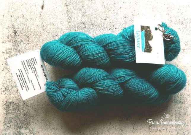 Merino Single - Lagune - Colour Fairy - Handdyed Merino - handgefärbt