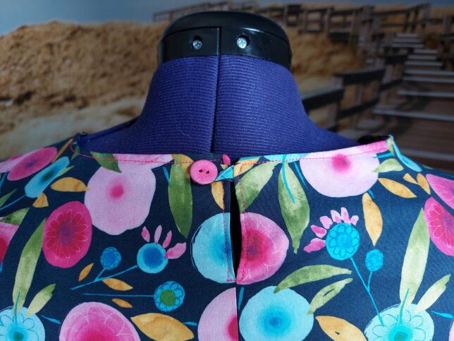 Hope Woven Dress - Style Arc - Schlitz - rosa Knopf