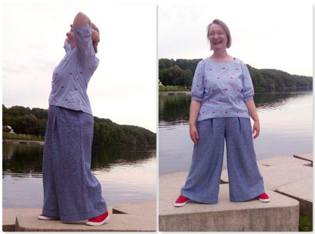 Pirkko-Pants-Rosa-P-Leinenhose-Sommerhose-Tragefoto